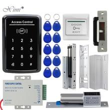 RFID Access Control System Kit Frame Glass Door Set+Electric 180KG Magnetic Lock+10 Keytab+Power