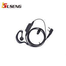 LSENG 2PIN With PTT Microphone For Radio Security Walkie-Talkie Ear-Hook Earbud Type Walkie-Talkie Headset For Baofeng UV5R