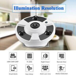 Image 2 - Gadinan H.265 IP Camera Audio Mic 1.7MM Fisheye Lens 5MP 3MP 2MP Panoramic ONVIF Surveillance Outdoor Xmeye Could DC12V/ POE 48V