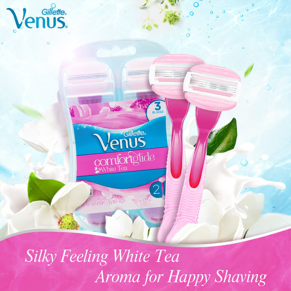 Gillette Venus Breeze Women Razor Blade Shaver Razor Safety Girl Shaving Head Hair Removal Shaver Machine Lady Razors Blades