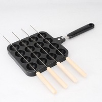 Octopus Meatball Mold With Roasted Pin 16 hole Family Barbecue Grinding Tool Electric Oven Gas Stove Barbecue Tools Cookware Set