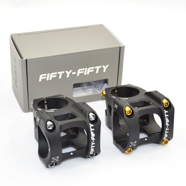 5050 FIFTY FIFTY Attacco Manubrio MTB Riser 31.8*35mm/50 millimetri strada Mountain Bike In Lega di Alluminio Staminali parti di biciclette Accessori Per il Ciclismo