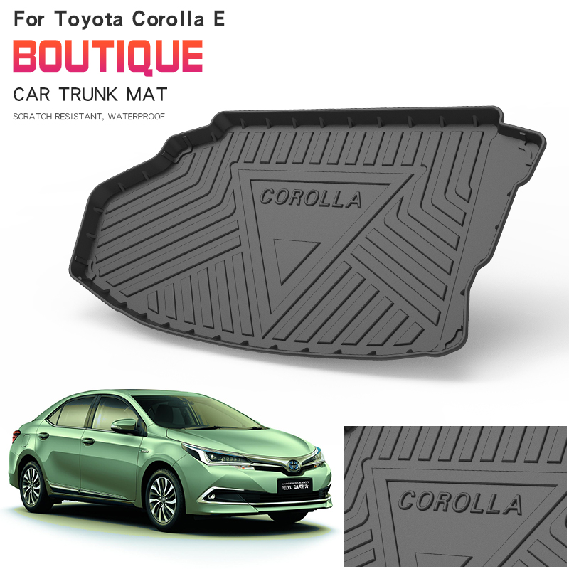 Car trunk protection mat Leather Pad car styling accessories For Toyota COROLLA HYBRID E+(New Energy)2019