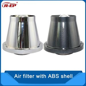 Image 1 - R EP Air Filter High Flow Sports Car 76mm/3inch Intake Universal Auto Accessories turbo filter Cartridge Washable Cleaner
