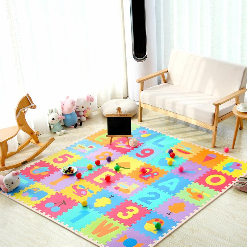 Children's Soft Developing Crawling Rugs Baby Play Puzzle Number/letter/cartoon Eva Foam Mat Pad Floor for Baby Games Literacy | Happy Baby Mama