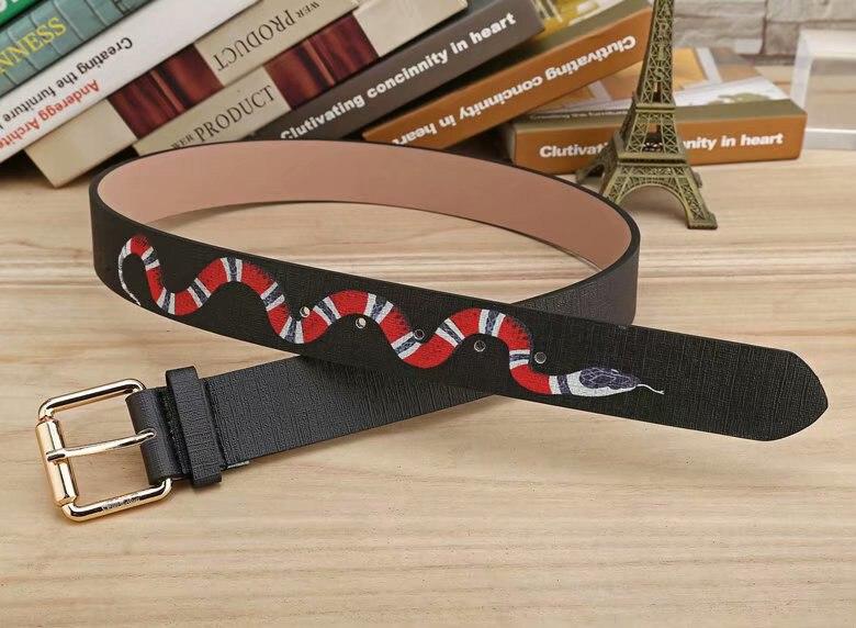 Unisex Men Women Snake PU Leather Vintage Buckle Belt Casual Girls Fashion Classic Men Belt
