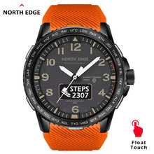 NORTHEDGE Mens Digital Watch Military Army 50M Waterproof Dual Display Sport Heart Rate monitor Bluetooth Phone Call Wristband