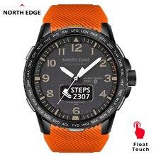 Northedgeメンズデジタル腕時計ミリタリー軍 50 メートル防水デュアルディスプレイスポーツ心拍数モニターのbluetooth電話通話リストバンド