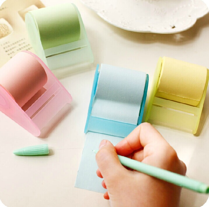 To Use It As Long As Your Wish ! Multifunction Memo Pads , Big Roll Sticky Notes As Tape With Tape Dispenser