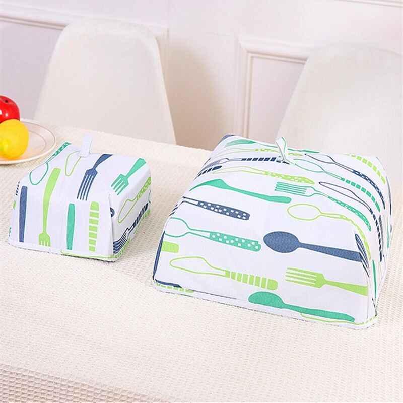 주방 foldable 식품 커버 습기 방지 릴리스 및 릴리스 자유롭게 접힌 방진 안티 모기 커버 뜨거운
