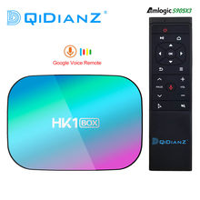Hk1box 4gb 128gb 8k amlogic s905x3 smart tv caixa android 9.0 duplo wifi 1080p 4k youtube definir caixa superior caixa hk1 pk x96air x3 a95xf3