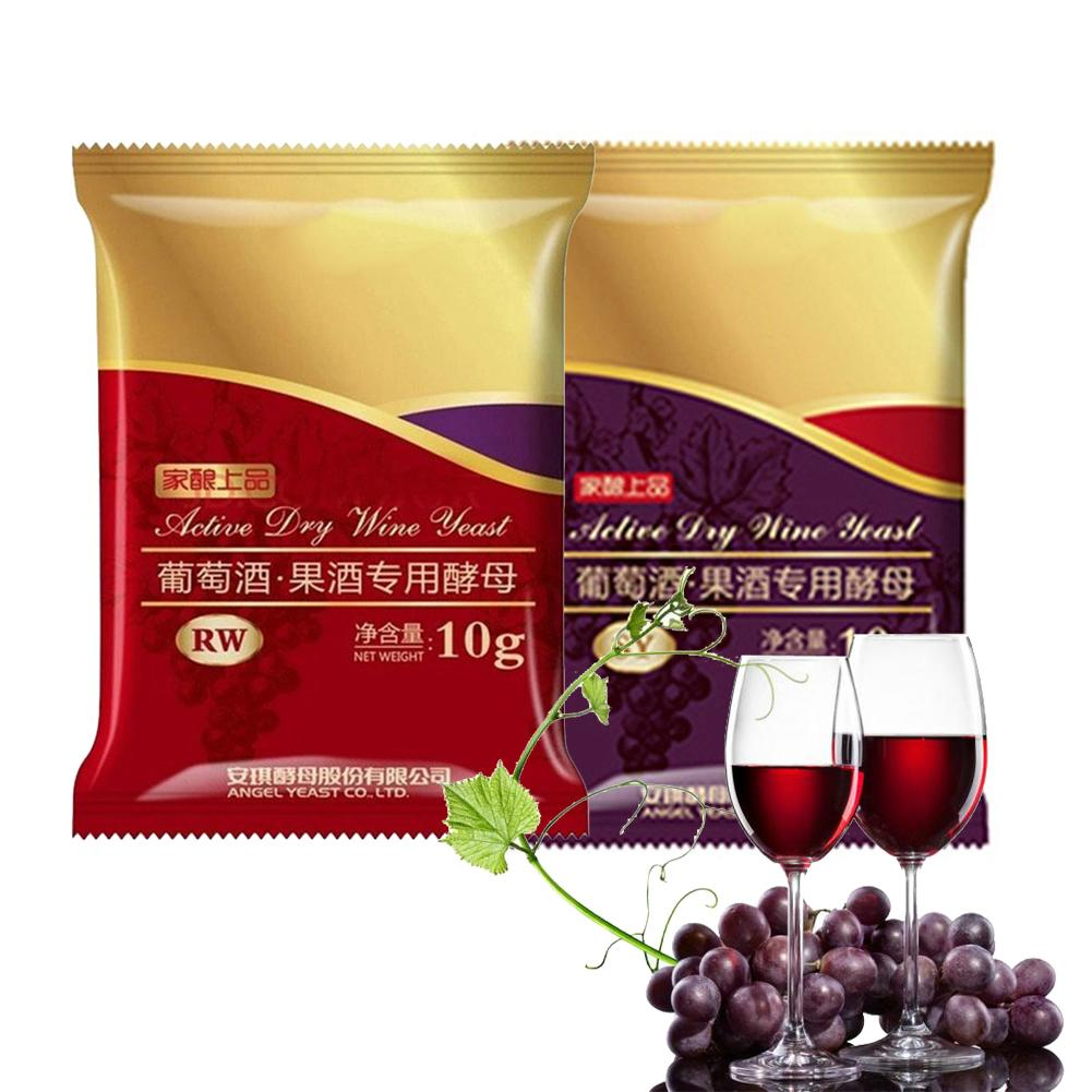 10G Wine Yeast Full Fermentation Dry Yeast Grape Alcohol Active Dry Yeast Liquor Maker For Wine DIY Home Brewing
