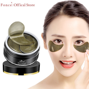 Image 1 - FONCE Black Tea Collagen Crystal Eye Patches 60pcs Natural Remover Dark Circles Sleep Mask Bags Under The Eye Mask