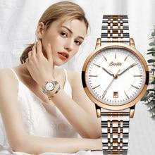 SUNKTA 2020 Neue Modus Frauen Uhren Rose Gold Weiß Damen Armband Uhren Reloj Mujer Kreative Wasserdicht Quarz Uhren Für Frauen