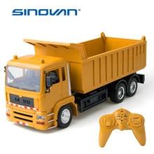 Rc caminhão de engenharia de controle remoto veículos de construção super power dump carro crianças brinquedos meninos presentes carregador elétrico carro rc