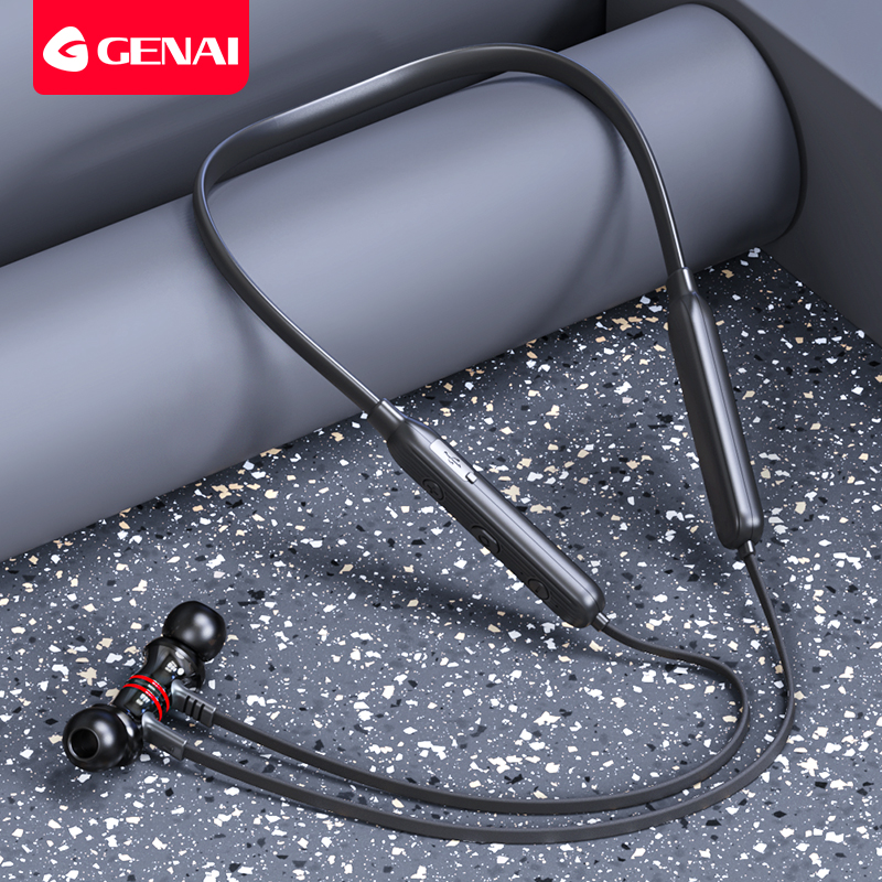 Bluetooth Headphone for Sports Wireless Headphones Bass In Ear with Microphone Magnetic Noise Reduction Running Sport Earphone