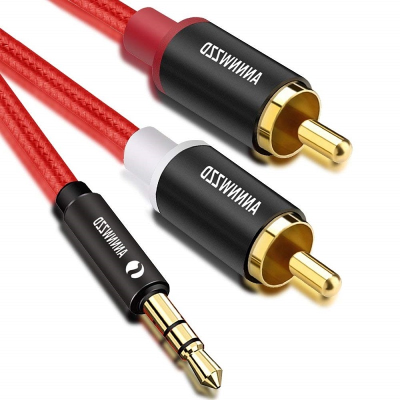 RCA Cable 2RCA To 3.5mm Audio Cable HiFi Stereo AUX RCA Jack 3.5 Y Splitter 2m 3m 5m For Amplifiers Audio Home Theater RCA Cable