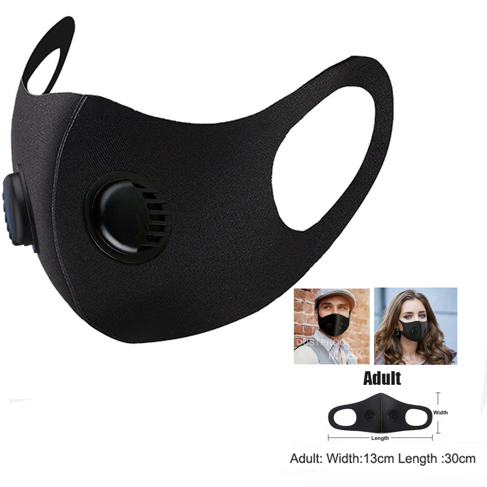 Breathable Washable Masks Dustproof Face Mask Respirator with Breath Valve Face Mouth Protective Mask 2
