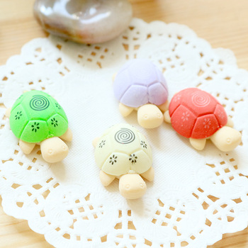 2pcs Creative Turtle Cartoon Eraser Students Eraser Stationery Supplies Wholesale image