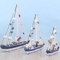 Modelo de velero con conchas decorativas para el hogar, artesanía de mano de peces de estrellas de mar, artesanía mediterráneo, decoración de escritorio de oficina, regalo ornamental