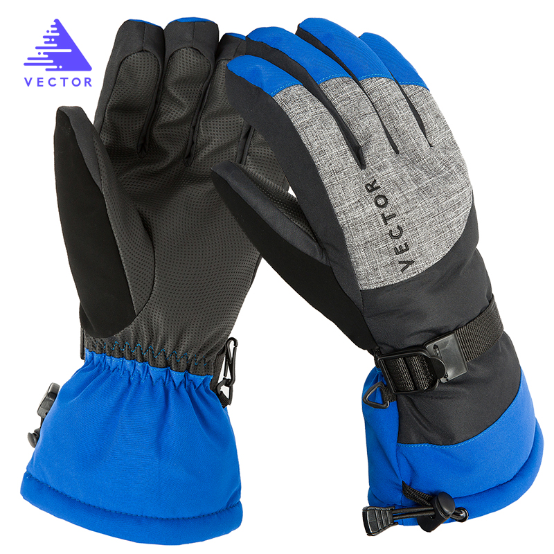 Extra Thick Warm Waterproof Ski Fleecy Gloves Windproof Winter Outside Sport Snowboard Snowmobile Motorcycle Riding Skid-Proof