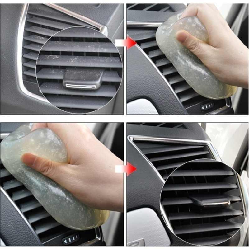 רכב מנקה דבק רכב אביזרי פנים פנל אוויר Vent Outlet לוח מחוונים אבק מחשב נייד ספוג בוץ מסיר קסם ניקוי כלי