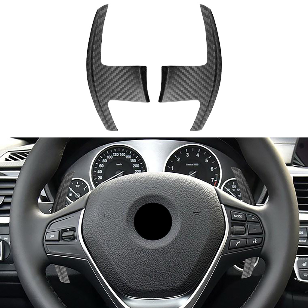 100% true carbon fiber, steering wheel shift paddles, suitable FOR BMW X3 X4 X5 X6 X7 M5 3/5/6/7 series car stickers;