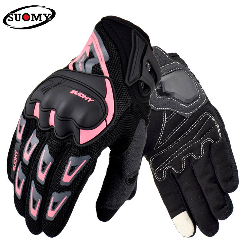 SUOMY Summer Breathable Motorcycle gloves Women Men Racing gloves Motorbike Motocross Riding Gloves Touchscreen Gloves Guante