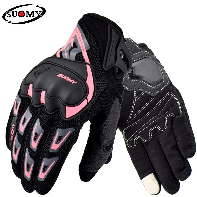 SUOMY летние дышащие мотоциклетные перчатки, женские и мужские гоночные перчатки, мотоциклетные перчатки для мотокросса, перчатки с сенсорны...