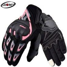 Suomy luvas de motociclismo respiráveis, luvas para o verão, unissex, para corrida, motocross, equitação, touchscreen