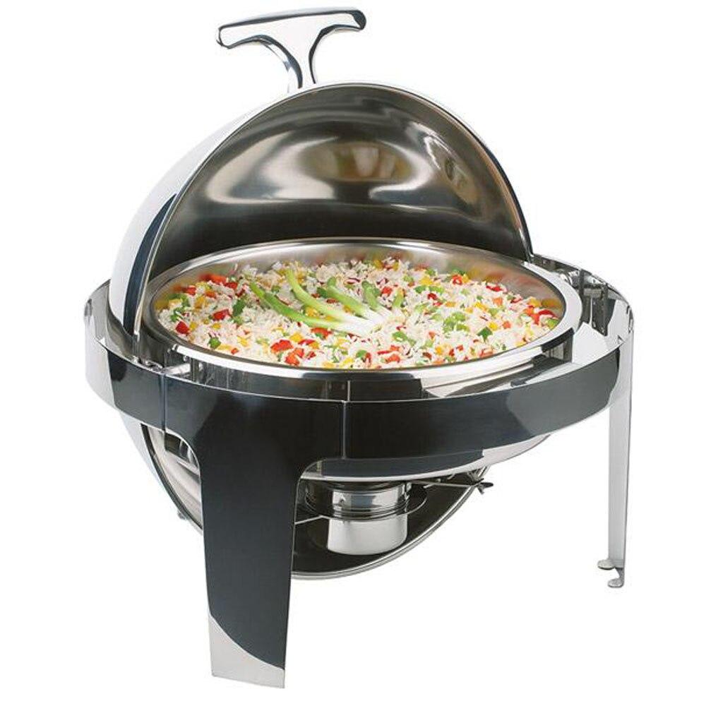 Ensemble de plats poêle de Buffet | Clamshell ronde de 6 quarts en acier inoxydable de qualité supérieure, récipient chauffe-aliments pour restauration de Buffet