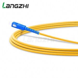 Image 2 - 10 шт. SC UPC to SC UPC Simplex 2,0 мм 3,0 мм ПВХ одномодовый волоконный патч кабель Соединительный волоконный патч корд Fibra Optica Ftth