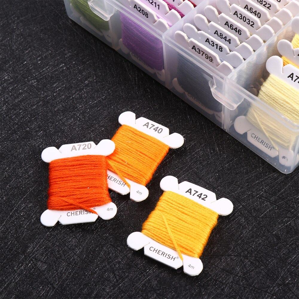 1 Box 80 Colors Embroidery Thread Yarn Thread Sewing Thread Sewing Machine Thread for DIY Sewing Use