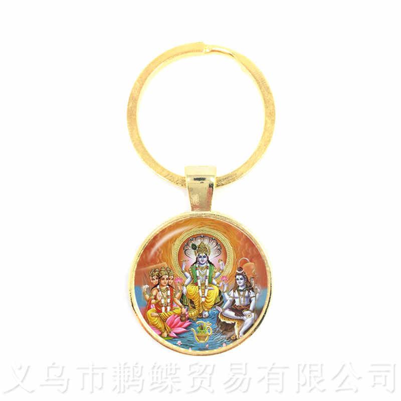 זרוק חינם גנש פסל ההינדית Ganapati Vinayaka אלוהים מחזיקי מפתחות, בציר האל גנש ההודי בודהיזם תכשיטי לנשים גברים