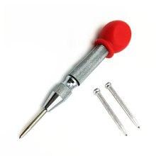 Centro automático perfurador primavera carregado pino scribing carpintaria metal plásticos marcação buraco ferramentas manuais cinzel