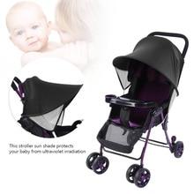 цена на Baby Windproof Rainproof Sun Protection Umbrella Awning Shelter Universal Accessories Anti-UV Cloth Rayshade Stroller Cover