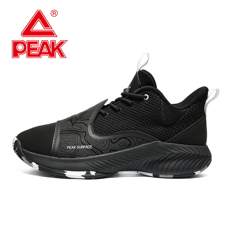 PEAK Men Basketball Shoes Low-top Professional Cushioning Sneakers Breathable Wearable Outdoor Training Athletic Sports Shoes