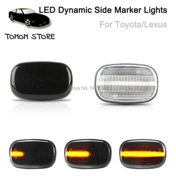 цена на led dynamic side marker lights for toyota Corolla Camry Avensis Celica RAV4 car turn signal lights auto accessory
