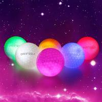 20pcs/Lot Crestgolf Flashing Glowing Golf Ball Night Glow Flash Light up LED Golf Ball,six Color (Updated Mixed Color Brighter)