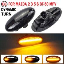 FÜHRTE Seite Marker Blinker Licht Für MAZDA 2 3 5 6 BT 50 MPV Dynamische Repeater Sequentielle Anzeige Lampe Blinker
