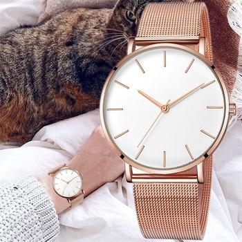 2020 luxury ladies stainless steel mesh watch casual bracelet quartz watch ladies watch clock reloj mujer relogio feminino