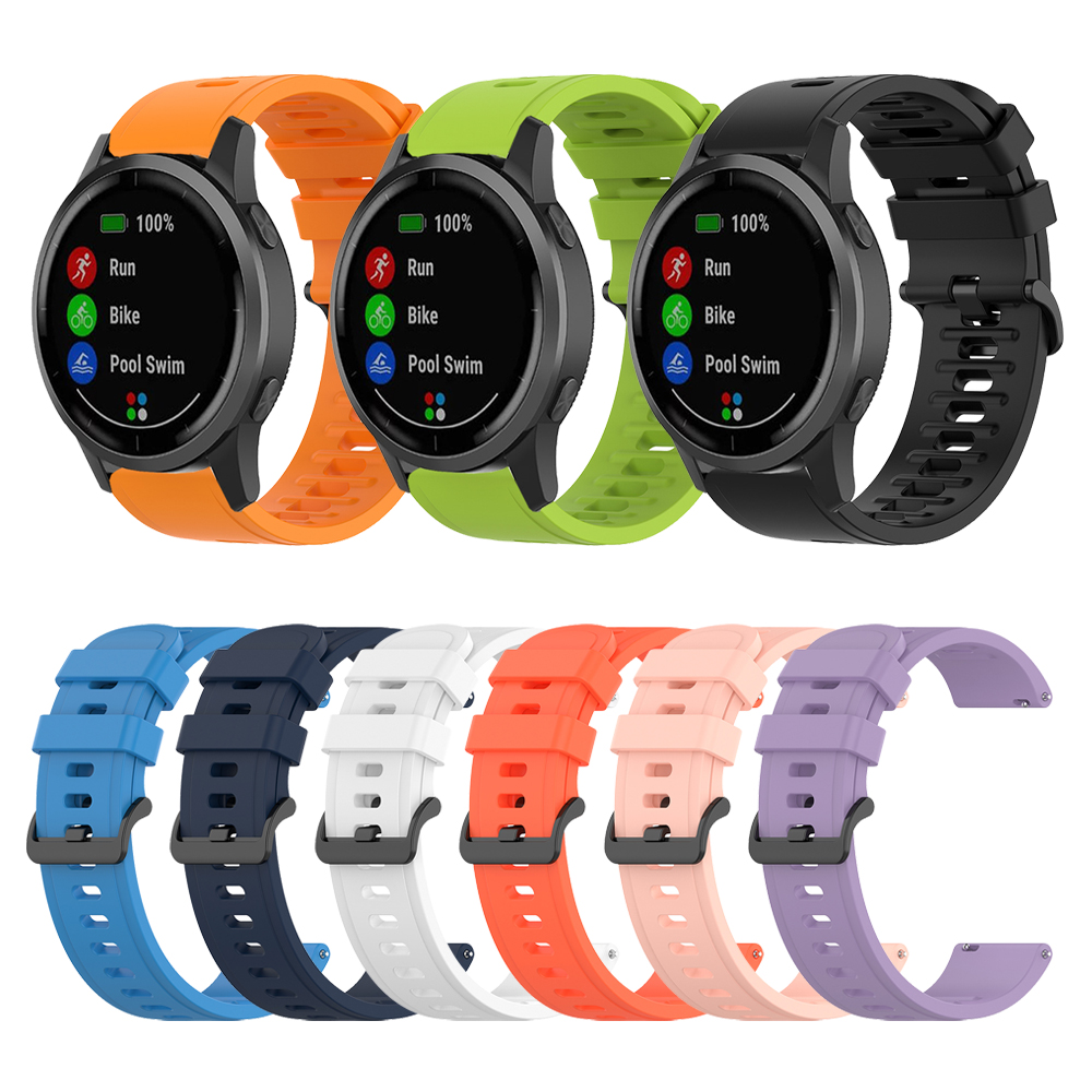 Silicone Watchband For Garmin Vivoactive 4 Vivoactive 3 Forerunner 245 645 Music Wrist Strap Band For Garmin Venu Bracelet 22 20