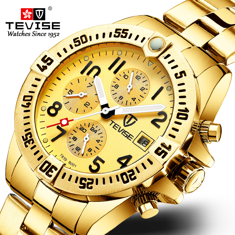 Watches Men 2019 Top Brand TEVISE Sport Waterproof Stainless Steel Man Watch Automatic Mechanical Date Watch Relogio Masculino