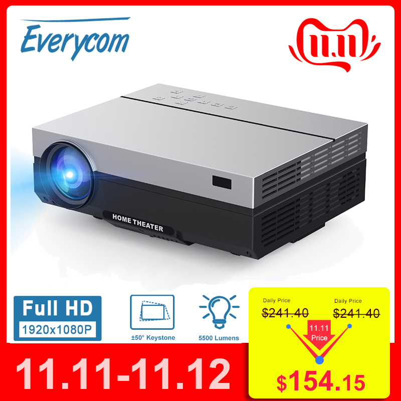 Everycom T26K Full HD Projector 1920x1080P Projector Portable 5500 Lumens HDMI Beamer Video Proyector LED Home Theater Movie-in LCD Projectors from Consumer Electronics
