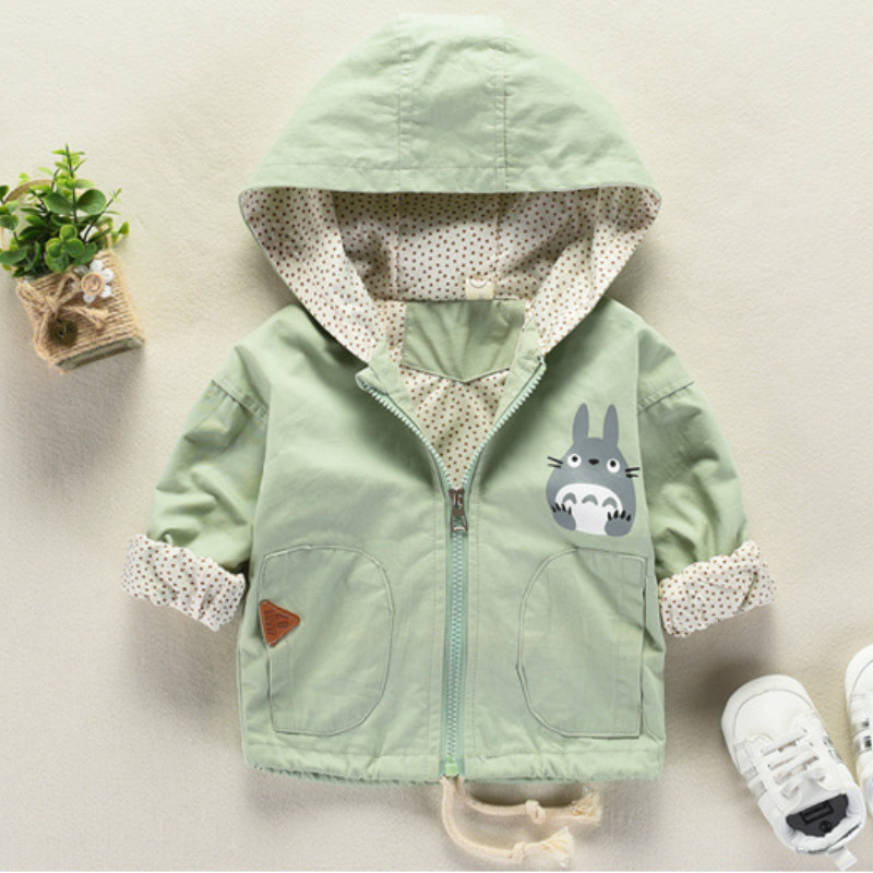 Toddler Baby Kids Spring Autumn Hoody Outerwear Boys Girls Cat Jacket Coat Infant Windbreaker Overall Children Clothing NewBorn