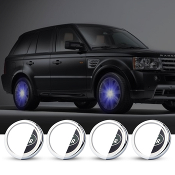 For Land Rover 66mm Hub Light Car Floating Illumination Energy Wheel Caps LED Light Wheel Center Cap Center Cover Lighting Cap