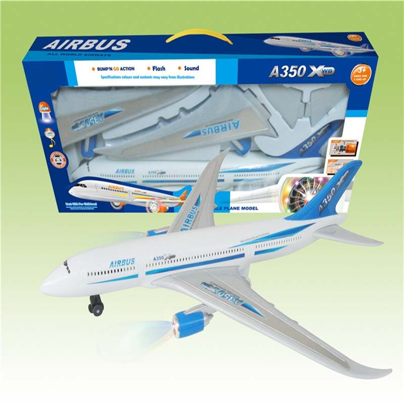 Children Electric Plane Toy Educational Shining Music Universal Air Bus Stall Hot Sales Aircraft Model