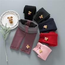 Осень-зима, теплые штаны для маленьких девочек, плотные леггинсы, колготки для новорожденных, штаны, Повседневные детские штаны