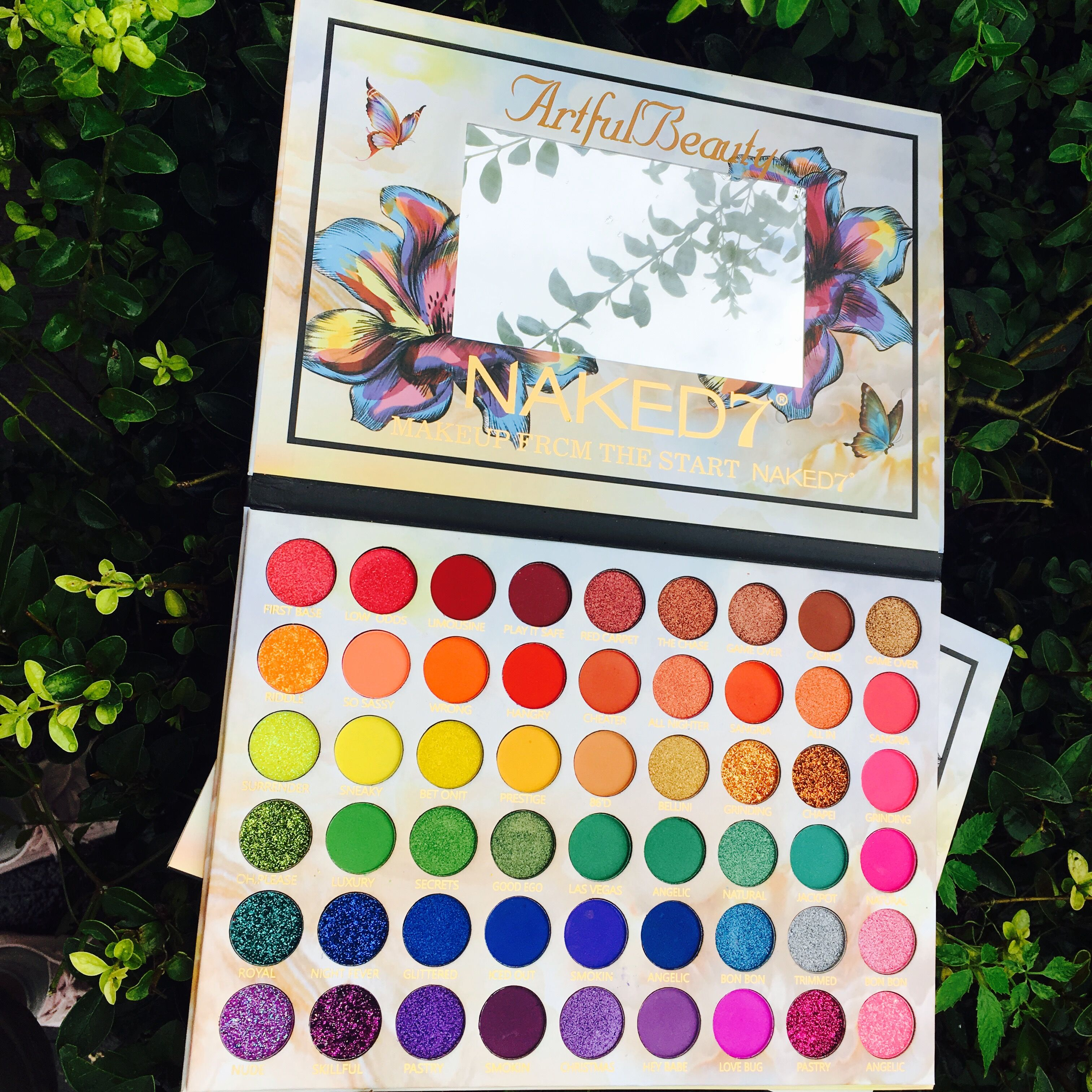 2019 Beleza Da Paleta Da Sombra de Maquiagem Artística 54 Cor do Verão Coleção Matte Shimmer Glitter Pigmento Paleta Da Sombra de Olho Cosméticos