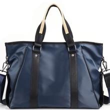 Модный мужской деловой портфель, водонепроницаемая нейлоновая сумка через плечо, Корейская Стильная мужская изящная сумка для отдыха DF359